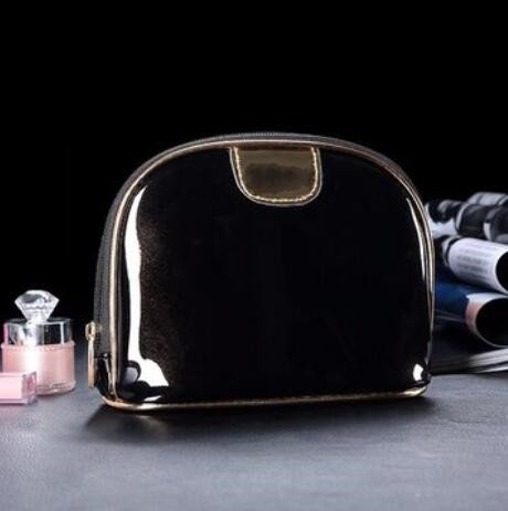Bluelover Shell Opslag Make-up Bag Waterdichte Reizen Comestic Handtassen Rits Telefoon Munttassen Pu Leer