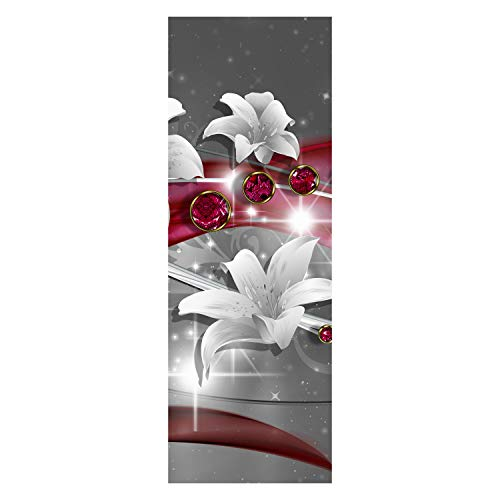 wandmotiv24 Türtapete Abstrakt Diamant Lilie 70 x 200cm (B x H) - Dekorfolie selbstklebend Tapete, Tür-Aufkleber, Türbild, Wandbild M0530