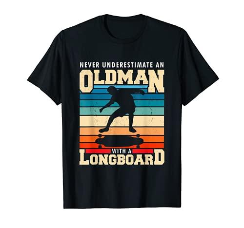 Retro Longboarder Longboard T-Shirt