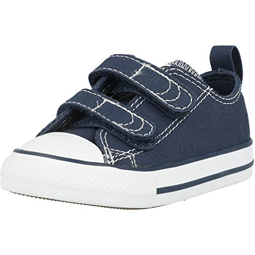 Converse Jungen Unisex-Kinder Chuck Taylor Ct 2v Ox Canvas Fitnessschuhe, Blau (Athletic Navy/White 412), 25 EU