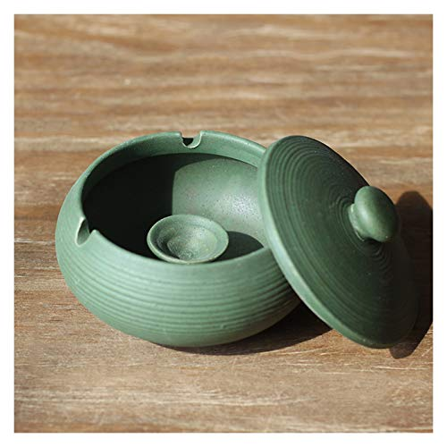 guoqunshop Cenicero Cenicero con Tapa Anti-Ash Retro cenicero hogar Sala de Estar cerámica Oficina cenicero Mejor opción para Regalos (pequeños y delicados) Cenicero al Aire Libre (Color : B)