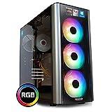 dcl24.de [11273] Gaming PC RGB Level 20 AMD Ryzen 3-3200G 4x3.6 GHz - 240GB SSD & 1TB HDD, 16GB DDR4, Vega 8 - WLAN, Windows 10 Pro Spiele Computer Rechner
