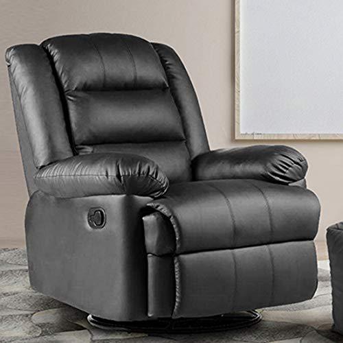 Furny Divine 1 Seater Leatherette Recliner (Black)