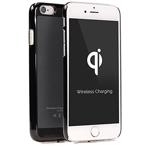 Urcover Custodia Protettiva Wireless Qi Apple iPhone 6 Plus / 6s Plus Back-Case TPU Scocca Rigida Cover Morbida Carica a Induzione in Grigio | Ricevitore Qi Integrato
