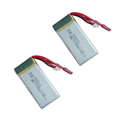 YUNIQUE ESPANA 2 Piezas 7.4V 1200mAh 30C Lipo Baterías Para MJX X101 RC Drone