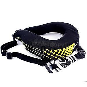 ZNWEATCZ Protezione Collo Motocross, Mountain Bike Collari Cervicali, Connessione Nascosta Lavabile, Karting Collare per Auto Sportiva Corsa Campestre