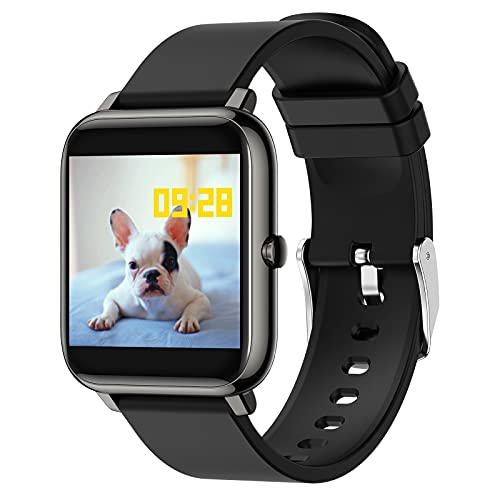 BNMY Smart Watch Reloj Inteligente con Oxígeno Sanguíneo Presión Arterial Frecuencia Cardíaca, Pulsera Actividad Impermeable IP67 para Hombre Mujer para iOS Android,Negro