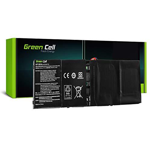 GC® Laptop Akku für Acer Aspire V5-572P-6858 V5-573 V5-573G V5-573G-54208G50aii (Li-Polymer Zellen 3400mAh 15.0V Schwarz)