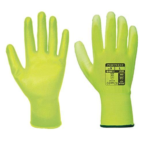 Portwest Handschuh A120Y2RM, Polyurethan, Standard, Größe:Größe Medium, Gelb