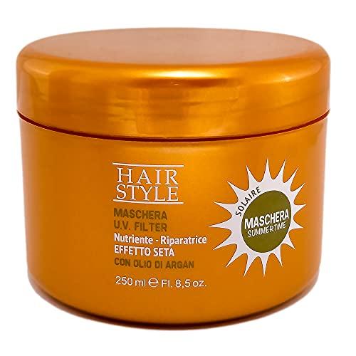 Mascarilla capilar con Aceite Argan 250ml, Mascarilla para el cabello con Filtro UV SummerTime