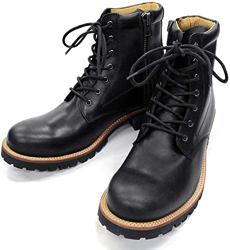 [スローウエアライオン] 3ヶ月保証 8593CAR BLACK 9E[27.0-27.5cm] オイルドカウレザーブーツ ラグソール 本革 日本製