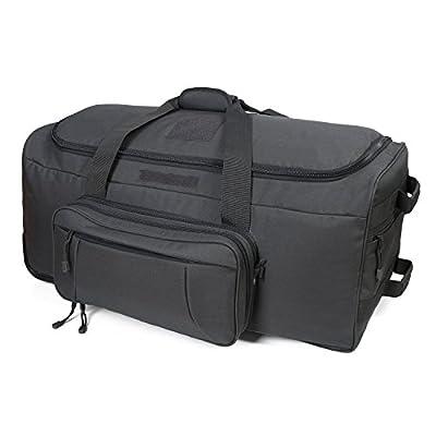 Fox Tactical Wheeled Deployment Bag Trolley Duffel Bag,Travel Duffel Luggage Rolling Luggage for Heavy-Duty Camping,Hiking,Trekking