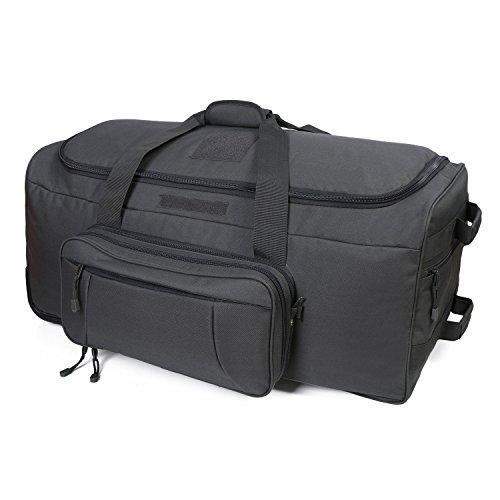 WolfWarriorX Wheeled Deployment Bag Travel Duffel Luggage Load-Out 124L X-Large Bag Heavy-Duty Camping Bag Rolling Luggage(Grey)