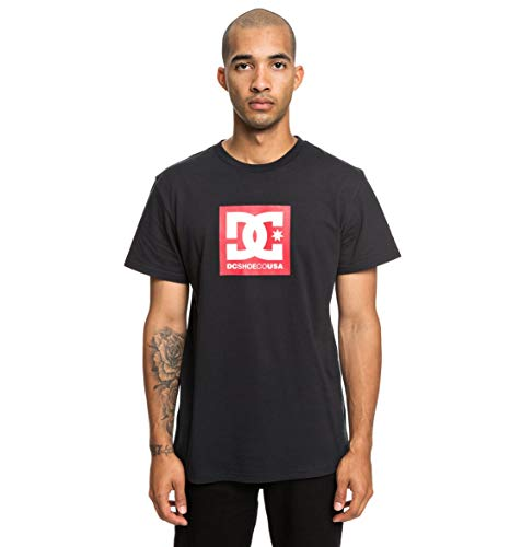 DC Shoes Square Star' T-Shirt Homme, Noir, Large