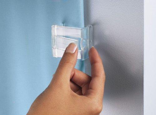 Kleine Wolke Duschvorhang - Klammern Farbe Glasklar 2 Stück