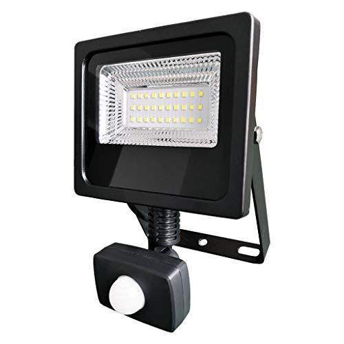 YAYZA! Slim Foco Led de Seguridad para Exterior con Detector de Movimiento Sensor PIR 50W Blanco Frío, Proyector LED con Impermeable IP65