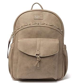 Nicole Miller Chic Studded Backpack Diaper Bag Infant Baby Bag