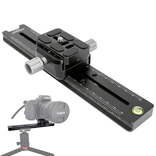 koolehaoda Abrazadera de liberación rápida de metal de riel nodal profesional de 240 mm, La abrazadera de doble cara se puede girar 90 °, para Cámara con Arca Swiss Compatible
