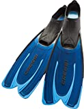 Cressi Agua, Pinne Self Adjusting per Immersioni, Snorkeling e Nuoto Unisex Adulto, Blu, 43/44