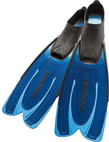 Cressi Agua - Unisex Premium Flossen Self Adjusting zum Tauchen, Apnoe, Schnorcheln und Schwimmen, Blau (Hellblau), 45/46