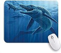 マウスパッド 個性的 おしゃれ 柔軟 かわいい ゴム製裏面 ゲーミングマウスパッド PC ノートパソコン オフィス用 デスクマット 滑り止め 耐久性が良い おもしろいパターン (海洋イクチオサウルス海洋恐竜)
