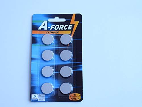 A-Force Knopfzelle CR2032-3 Volt im 8er Blister