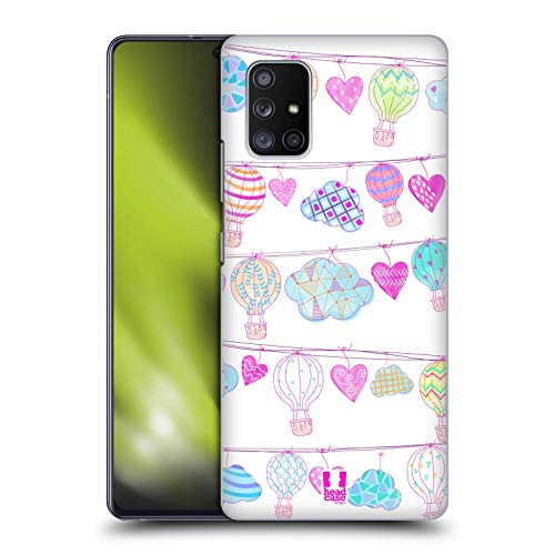 Head Case Designs Garland Hot Air Balloon Love Hard Back Case Compatible with Samsung Galaxy A71 5G (2020)