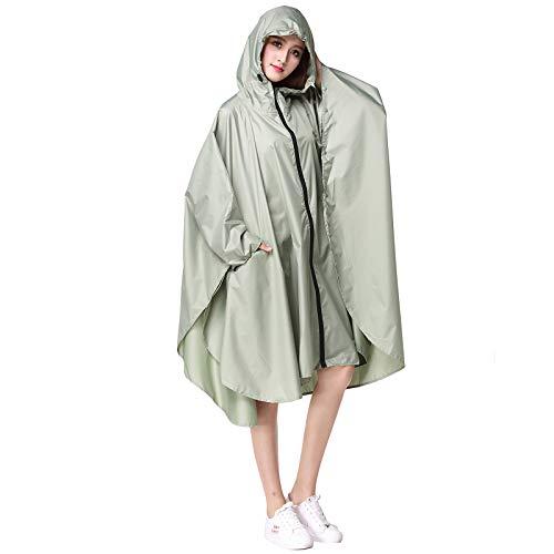 Wetry - Poncho Antipioggia da Donna Riutilizzabili Mantella Pioggia Antivento Impermeabile per Biciclette, Campeggio, Escursioni, Emergenza