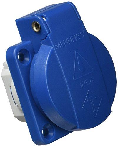 Mennekes 101700021Schukostecker-Einbaudose 16A / 230V, Schutzart IP 54, Blau