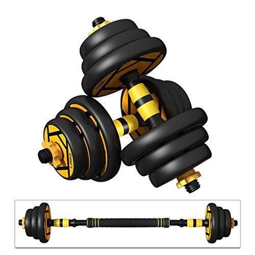 Hanteln Haushalt Paar Männerfitnessgeräte Einstellbare Gewicht Hantel Langhantelset Arm Krafttraining Hanteltraining (Color : Black, Size : A Pair 30kg)