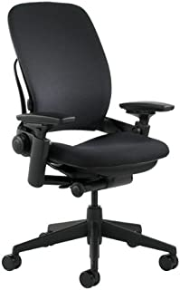 """Steelcase Leap Chair, Black Fabric,FBA_,5"""" Cylinder -"""