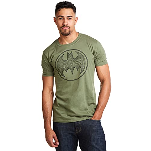 dc comics Batman 3D T-Shirt, Vert (Military Green Military), Medium Homme