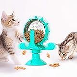 Qucopre Juguetes para Gatos, Juguete Interactivo para Gatos,Juguete de Gato Molino de Viento, Divertido Juguete Interactivo de Entrenamiento para Mascotas con Ventosa