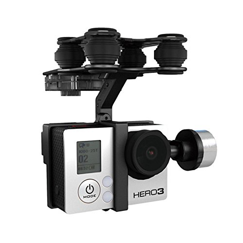 Wchaoen Walkera G-2D Brushless Gimbal Metallversion for iLook/GoPro Hero 3 Kamera auf Walkera QR X350 Pro RC Werkzeugzubehör