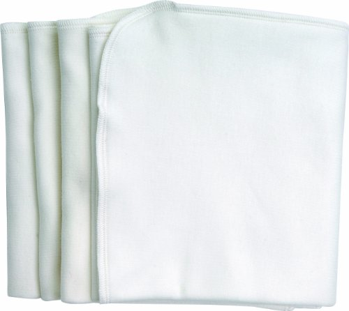 Under the Nile Burp Cloths, White, 4-Count