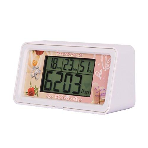 Reloj digital de cuenta atrás para bodas, 9 999 días