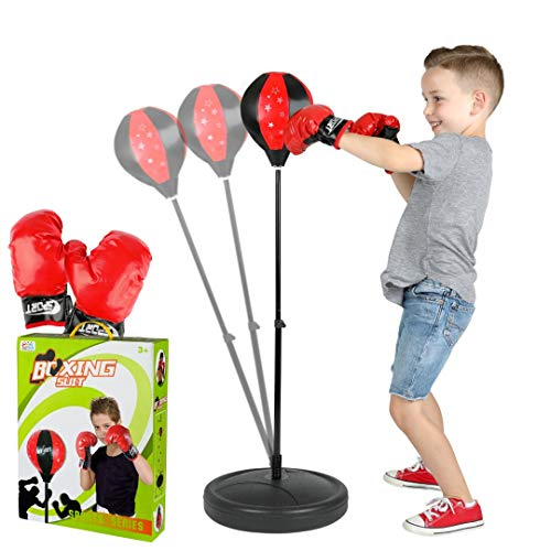 ToyVelt Punching Bag For Kids Boxing Set Includes Kids Boxing