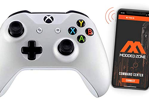 Soft Silver Smart Rapid Fire Custom Modded Controller for Xbox One S Mods FPS Games and More. Control and Simply Adjust Your mods via Your Phone!