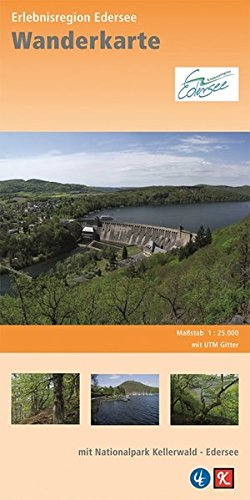 Wanderkarte Erlebnisregion Edersee: mit Nationalpark Kellerwald - Edersee