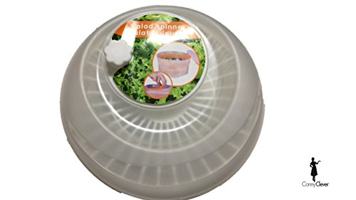 Conny Clever Salatschleuder mit Kurbel, transparent/weiß