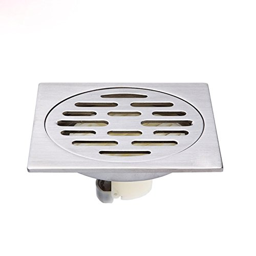 SDKKY super passage des drains de plancher acier inoxydable 304 salle de bain général la base l'odeur des drains de plancher
