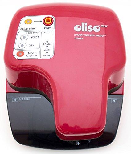 Oliso Pro VS95A Smart Vacuum Sealer for Food Storage, Red