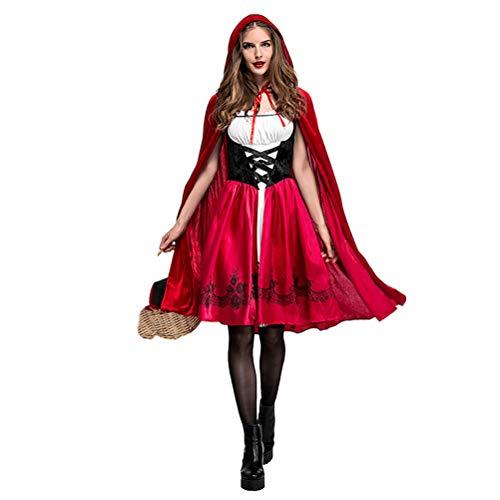 YPEZ Mantn De Halloween Disfraz De Caperucita Roja, Traje De Vampiro, Tela Cmoda, para Varias Fiestas De Baile, Carnavales(Color:Sombrero Rojo,Size:SG)