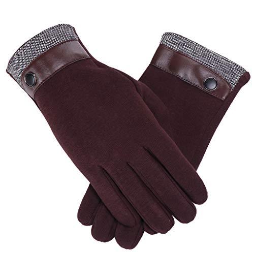 VENMO Damen Touchscreen Handschuhe Winter Warme Handschuhe Pelz Manschette Trainingshandschuhe Fingerhandschuhe Thermohandschuhe mit Fleece Gefüttert