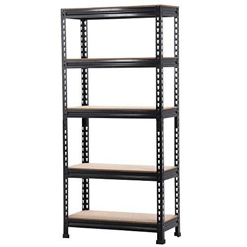Topeakmart Garage Storage Racks, 5-Tier Adjustable Garage Storage Shelves Heavy Duty Metal Shelving Utility Shelves (28