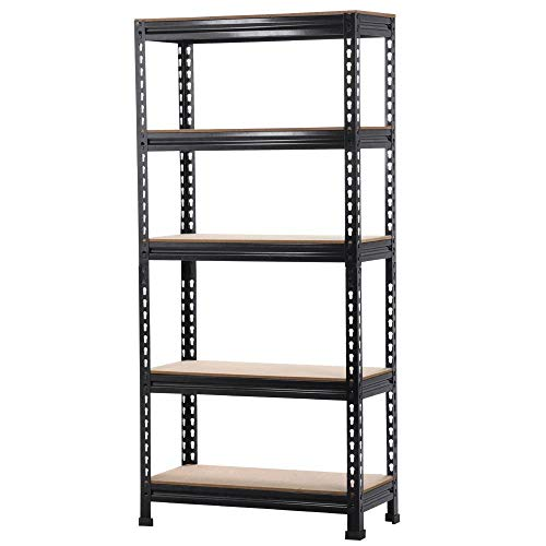 Topeakmart Garage Storage Racks, 5-Tier Adjustable Garage Storage Shelves Heavy Duty Metal Shelving Utility Shelves (28' x 12'x 59')