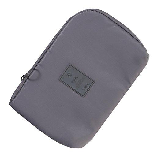 Sharplace Pochette de Stockage pour Voyage Vacances Organisateur d'Accessoires Électroniques Câble USB - 23 x 16cm, Gris