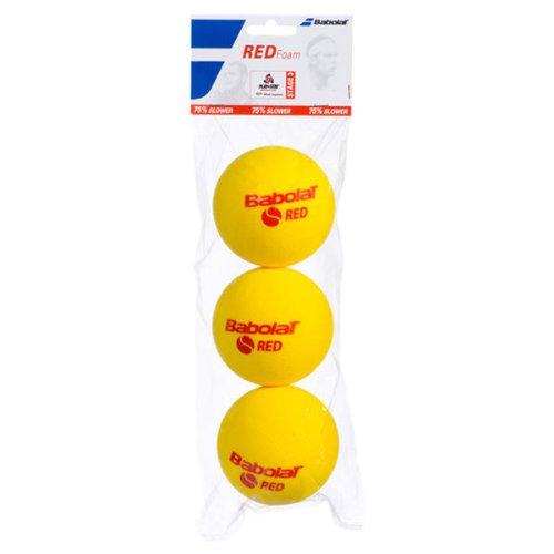 Babolat Red Foam X3 Pelota de Tenis, Unisex Adulto, Amarillo, Talla Única