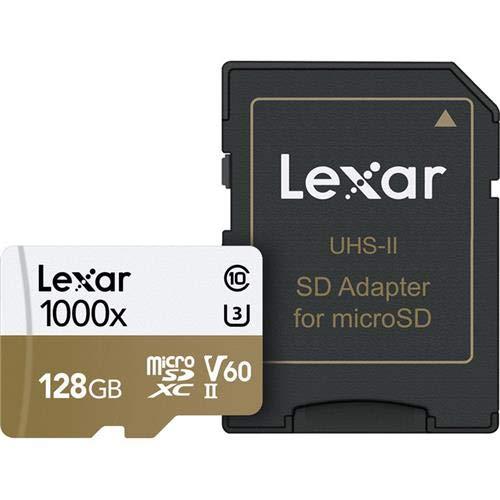 Lexar - Tarjeta de memoria profesional de 128 GB con adaptador SD y microSDXC UHS-II, velocidad de lectura de hasta 150 MB/s