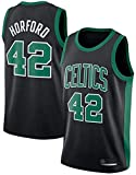 Men's NBA Jersey Boston Celtics 42# al Horford clásico sin Mangas de Baloncesto Chaleco Transpirable Camiseta Moda Masculina (Color : B, Size : Small)